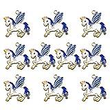 VALICLUD 10 Unids Unicornio Colgante Encanto Esmalte Chapado en Oro Caballo Volador Joyería Que Hace Collar Pulsera Pendiente del Tobillo Artesanía de Bricolaje