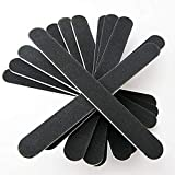 GREEN FABWOOD Double Sided Nail Files Emery Board Grit Black Gel Cosmetic Manicure Pedicure 5 pcs