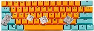 DELFINO 60% Mechanical Gaming Keycaps, Mini Keycaps OEM Profile RGB Pudding Keycap Set with Key Puller for Cherry MX Switc...