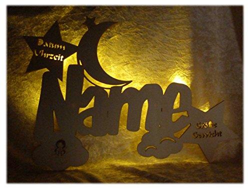 Schlummerlicht24 Geschenke zur Kommunion Holz Wandtattoo Wolken Schutzengel mit Name Datum Gravur für Mädchen und Junge zum Geburtstag personalisiert