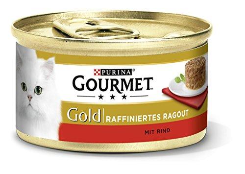 Purina GOURMET Gouden geraffineerde Ragout, heerlijke kattenvoering, fijn geslepen stukken, kattenvoering nat 12 stuks (12 x 85 g doos)