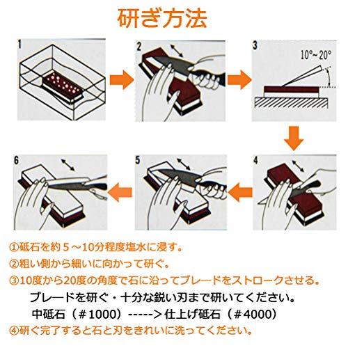 両面砥石包丁研ぎ ステンレス・鋼両用 ゴム台付き 日本語説明書付き レッド