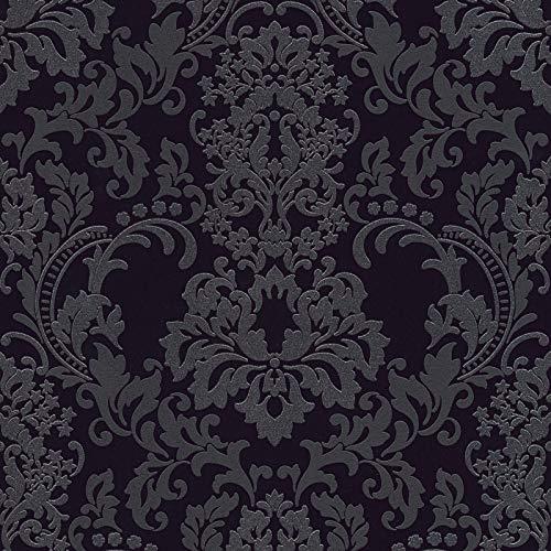 Vliestapete Barock-Tapete Ornament-Tapete 361663 36166-3 A.S. Création Neue Bude 2.0 | Schwarz/Anthrazit | Rolle (10,05 x 0,53 m) = 5,33 m²