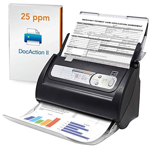 Plustek PS186 Desktop Document Scanner, with Auto Document Feeder (ADF). For Windows 7 / 8 / 10
