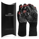 WELLSTONE® Premium Grillhandschuhe hitzebeständig bis 500 °C - 36cm extra