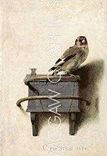The Goldfinch, 1654 by Carel Fabritius, Art Print Poster 11