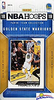 Golden State Warriors 2018/2019 Panini Hoops NBA Basketball EXCLUSIVE Factory Sealed Limited Edition 9 Card Team Set with Stephen Curry, Kevin Durant, Draymond Green, Klay Thompson & More! WOWZZER!