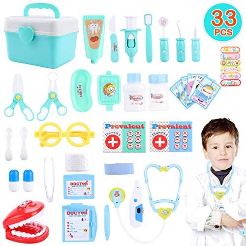 joylink Arzt Spielzeug, 33 Teile Arztkoffer Medizinisches Spielzeug Kinder Dentist Doktor Set Medizinische Kit Lernspielzeug Kinder Rollenspiele Geschenke für Mädchen und Jungen