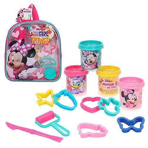 Disney - Kit mochila Minnie con 4 botes plastilina de 57 g y accesorios (77189)