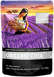 Chia Seeds (Black) Organic 950g by Power Super Foods - Size: 950g