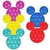 ONEST 5ピース シリコンプッシュポップバブル フィジェットセンサリー おもちゃ ムーンポップ フィジェットトイ 自閉症 ストレス解消 マウススタイル