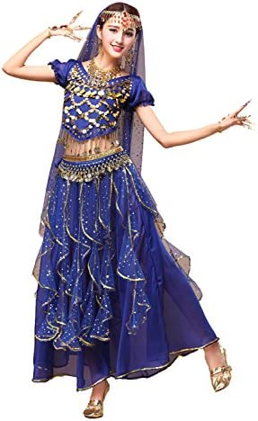 YYCRAFT Women s Halloween Costume Tops Skirt Set with Accessories Belly Dance Performance Outfit product image