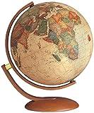 NOVA RICO 0337OPANITLLL0V4 - Globo Mappamondo Luminoso Stile Antico Optimus, 37 cm...