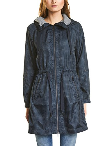 Street One Damen 100350 Mantel, Blau (Night Blue 10109), 40
