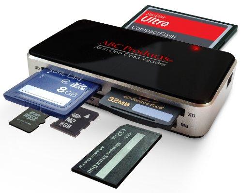 All in One USB Image Writer USB 2.0 Lector de Tarjetas de Memoria Teléfono Celular Windows 98SE, ME, 2000, XP, Vista, 7, 8, 10 y Apple Mac OS V9.2 +, Lee Todas Las Tarjetas Excepto SmartMedia
