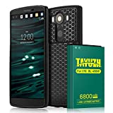 TAYUZH V10 Battery | 6800mAh Replacement Li-ion V10 Extended Battery with Back Cover & Soft TPU Protective Case for V10 BL-45B1F H901 H900 VS990 H960A LS992