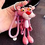MINTUAN Figura de acción de Pantera Rosa de PVC de Dibujos Animados Juguetes con Soporte de Cuerda d...