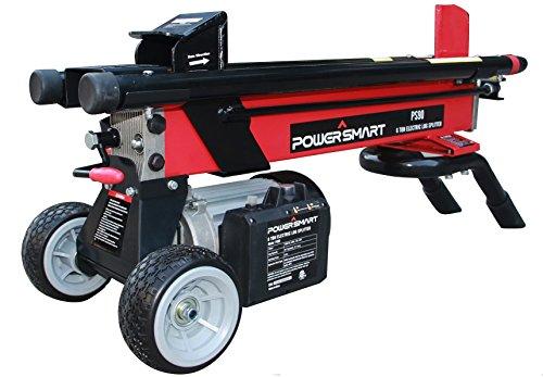 PowerSmart PS90 6-Ton 15 Amp Electric Log Splitter, Standard Size, Red, Black