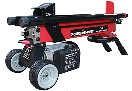 PowerSmart PS90 6-Ton 15 Amp Electric Log Splitter, Standard Size, Red, Black
