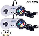 Exlene® Usb Controller Gamepads Joystick 10ft/3m (2pack),Usb Snes Controller Super Snes Classic...