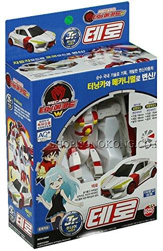 Turning Mecard W Jr. TERO White Ver. Transforming Robot Car Toy Mecarnimal