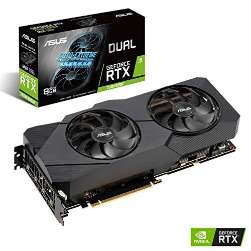 ASUS Nvidia GeForce RTX 2080S DUAL 8G EVO Super Gaming Grafikkarte (PCIe 3.0, 8GB DDR6 Speicher, HDMI, Displayport, USB Type-C, Raytracing, Standard Edition)