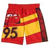 Disney Cars Lightning McQueen Toddler Boys Swim Trunks Red/Yellow 3T