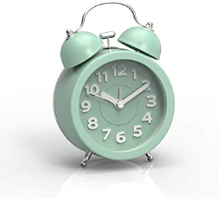 Home & Garden Useful Retro Double Bell Gold Silver Clocks With Backlight Metal Circular Mechanical Clockwork Alarm Clock Highly Polished