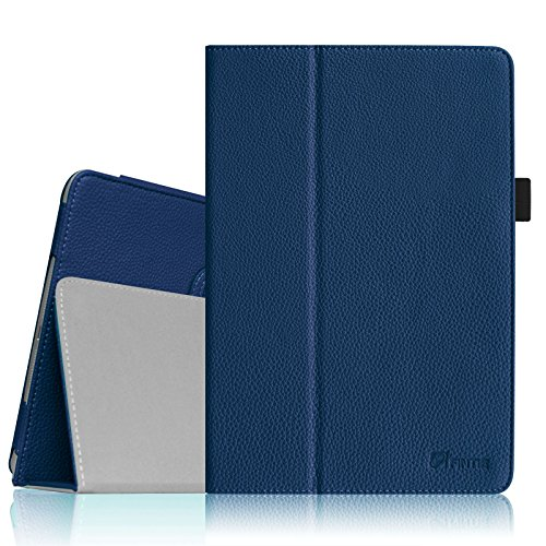 Fintie Folio Case for iPad Air 9.7' - Slim Fit PU Leather Smart Stand Protective Cover with Auto Sleep/Wake Feature for Apple iPad Air 2013 Model, Navy