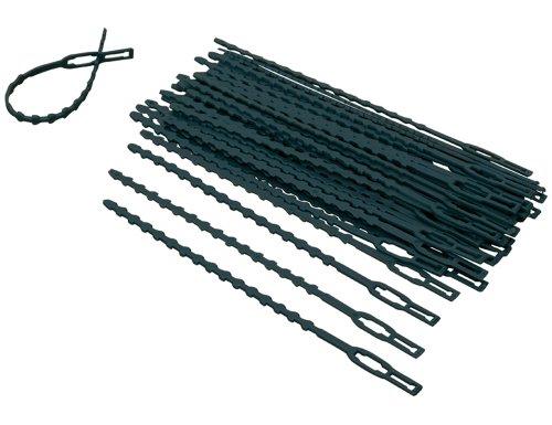 Siena Garden Pflanzenbinder, 40 Stück, verstellbar Reiter, 323070