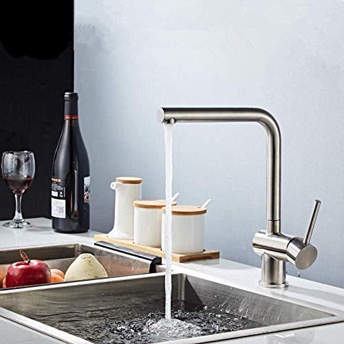 Keukenaanrecht kraan, mengkraan waterkraan, roestvrij staal 304 keukenkraan, flexibel gemonteerd, met deksel Torneira Do Anheiro