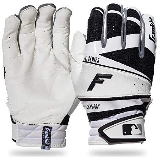 Franklin Sports Freeflex Pro Series Batting Gloves White/Black Youth Large