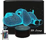 Dog 3D Illusion Lamp, 3D Night Light Gift for Kids, 8 16 6