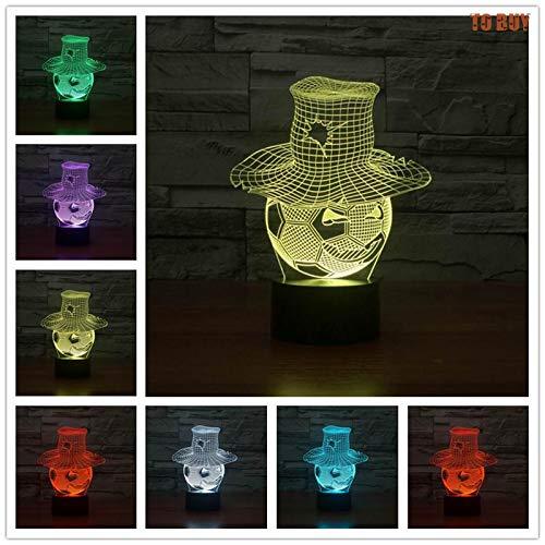 Banco de energía móvil interruptor táctil lámpara de mesa y lámpara 3D LED lámpara de mesa pequeña interfaz USB lámpara de control remoto táctil luz de noche colorida