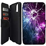 """Flip Wallet Case Compatible with iPhone 11 (6.1"""") (Cracked Screen Prank) with Adjustable Stand and 3 Card Holders 