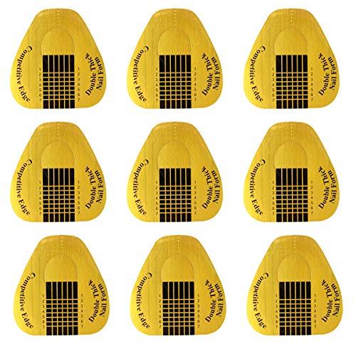 Nagel Schablonen 200pcs Nagel Schablone für Gelnägel Verlängerungsfolie für Nagel Verlängerung Modellierschablonen Modellier Nagel Zubehör für Künstliche Fingernagel, 1 Rolle