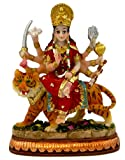 "Krishna Culture Durga Ma Statue India Figurine Idol 3.5"" Warrior Goddess Golu Doll"