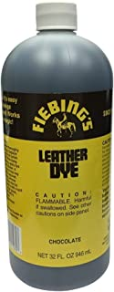 Fiebing's FILDYE30P032Z Leather Dye - Chocolate, 32 oz