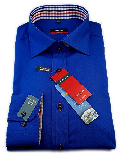 Eterna - Chemise business - Uni - Col Chemise Classique - Homme Bleu Bleu foncé
