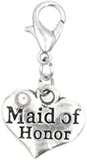 It's All About...You! Maid of Honor Clip on Charm Perfect for Necklaces and Bracelets 95Z