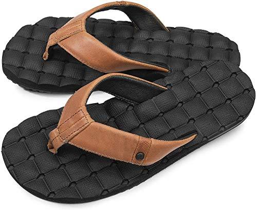 Volcom mens V0811515 Volcom Heren Recliner Lederen Flip Flop Sandaal
