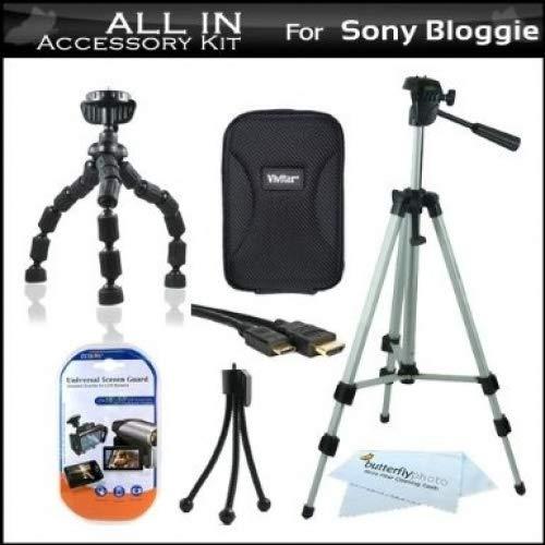 All In Accessories Bundle Kit For Sony Bloggie MHS-FS1 Video Camera Includes Deluxe Hard Case + 50' Tripod w/ Case + Flexible Tripod + Mni HDMI Cable + LCD Screen Protectors + Mini Tabletop Tripod + MicroFiber Cleaning Cloth