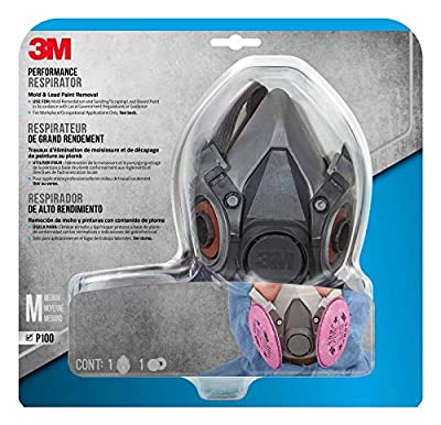 3M Mold and Lead Paint Removal Respirator, Medium - 6297PA1-A from 3M CHIMD