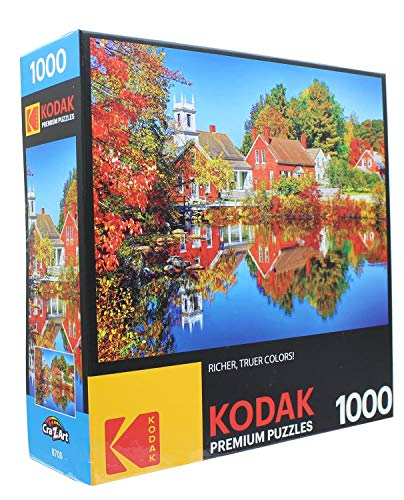 KODAK PREMIUM PUZZLES 1000 Piece - Autumn in Harrisville New Hampshire
