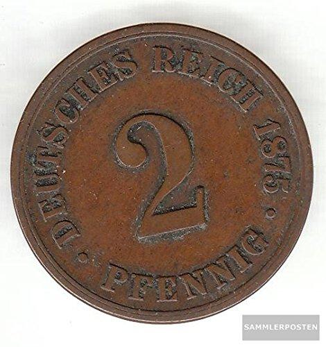 Deutsches Reich Jägernr: 2 1875 J sehr schön Bronze sehr schön 1875 2 Pfennig Kleiner Reichsadler (Münzen für Sammler)