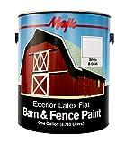 Majic Paints 8-0046-1 Latex Flat Barn & Fence Paint, 1-Gallon, White