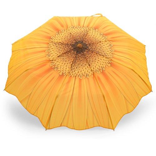 Automatik Regenschirm für Damen Taschenschirm Motiv Sonnenblume Gelb - Rosemarie SCHULZ
