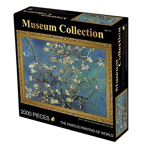 Puzzel Voor Volwassenen, 2000 Piece Jigsaws Puzzle Olieverf Adult Creative Jigsaw Speelgoed Cadeau (Abrikozenbloesem)