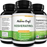 Anti Aging Trans Resveratrol Supplement - Natural Joint Support Supplement - Optimized Resveratrol Capsules With AMPK Activator Brain Booster Immune Support and Heart Health Supplement