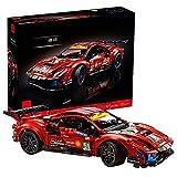 42125 Technic Technic Ferrari 488 GTE, 1677 Piezas Technic Super Sports Car Exclusivo Juego De Construcción De Modelos Coleccionables Compatible Con Lego Static,48 * 13 * 21cm